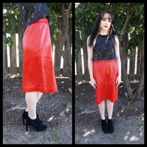 Amazing vintage 80's buttery soft leather skirt!!